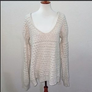 NWOT Free People Crashing Waves Sweater Size Small